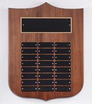 Shield Shape Walnut Perpetual Plaque