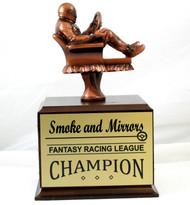 Fantasy Racing Armchair Perpetual Trophy | Engraved Racing Fantasy League Award - 10.5 Inch Tall