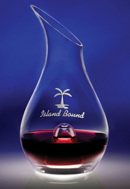 "Essence Wine Decanter Crystal Corporate Award - 9.75"" - Engraved"