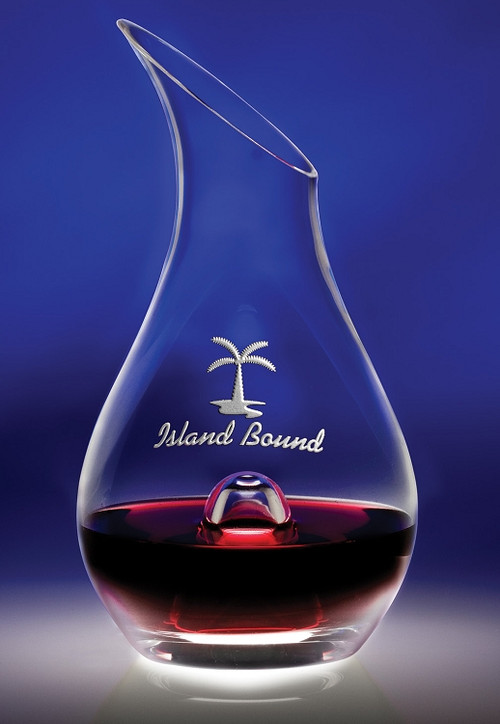 """Essence Wine Decanter Crystal Corporate Award - 9.75"""" - Engraved"""