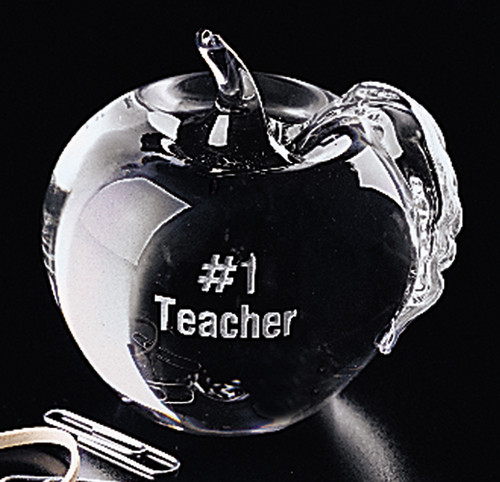 Apple Glass Paperweight / Corporate Award Minimum Quantity is 5 pieces