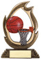 Basketball Flame Series Trophy