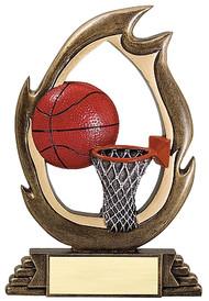"Basketball Flame Series Trophy | Basketball Award - 6"" & 7.25"""