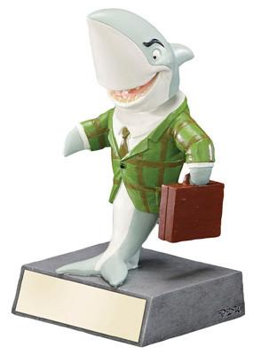 "Sales Shark Bobblehead Trophy | Corporate Deal Maker Award - 5.5"""