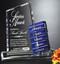 Glendale Goal-Setter Crystal Award - Blue Color Block