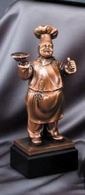 Chef Gallery Sculpture Trophy | Engraved Chef Award - 11 Inch Tall