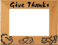 "Thanksgiving  ""Give Thanks"" Picture Frame"