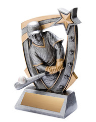 Baseball 3-D Star Resin Trophy