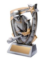 Baseball 3-D Star Resin Trophy | Engraved Baseball Award - 6 Inch Tall