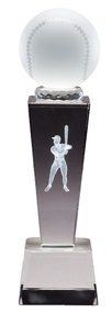 Baseball Crystal Collegiate Series Trophy