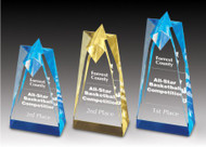 "Sculpted Star Acrylic Trophy | Sculpted Star Corporate Award - 6"", 8"" & 10"""