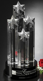 Star Constellation Crystal Trophy | Star Corporate Award - 14""