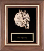 Fireman American Tribute Wood Plaque – To Serve and Protect
