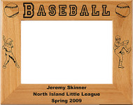 Baseball Little League Picture Frame - Personalized