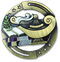 Lamp of Knowledge M3XL Medal | Engraved Academic Medallion | 2.75 Inch Wide