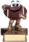 Football Lil' Buddy Trophy | Engraved Smiling Football Award - 4 Inch Tall