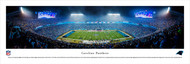 Carolina Panthers Panorama Print #3 (50 Yard - Night) - Unframed