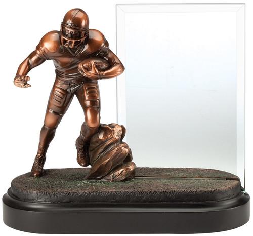 Football Story Glass Award | Engraved Gridiron Sport Hero Award - 8 Inch Tall