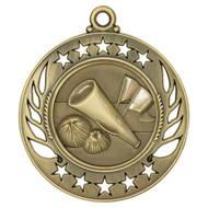 Cheerleading Galaxy Medal - Gold, Silver & Bronze | Engraved Spirit Medallion | 2.25 Inch Wide Cheerleading Galaxy Medal - Gold
