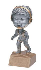 Pewter Wrestling Bobblehead Trophy