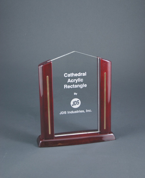 Cathedral Rectangle Acrylic Award - Small