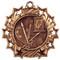 Art Ten Star Medal - Gold, Silver or Bronze | Paint Palette & Canvas 10 Star Medallion | 2.25 Inch Wide Art Ten Star Medal - Bronze