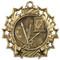 Art Ten Star Medal - Gold, Silver or Bronze | Paint Palette & Canvas 10 Star Medallion | 2.25 Inch Wide Art Ten Star Medal - Gold