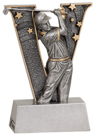 "Golf ""Action"" V Series Resin Trophy - Male 