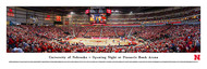 University of Nebraska Panorama Print #7 (Basketball) - Unframed