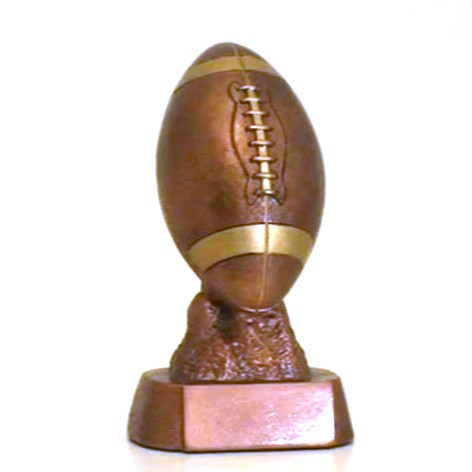 6 Inch Tall Engraved Plate on Request Decade Awards Football Bronze Finished Trophy FFL Gridiron Award