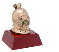 Knight Mascot Sculptured Trophy   Engraved Knight Award - 4 Inch Tall