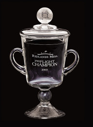 "Ranier Cup Crystal Corporate Award - 9.75"", 10.75"" & 11.75"" - Engraved"