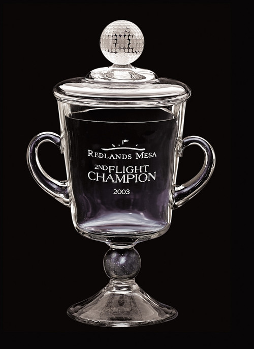 """Ranier Cup Crystal Corporate Award - 9.75"""", 10.75"""" & 11.75"""" - Engraved"""
