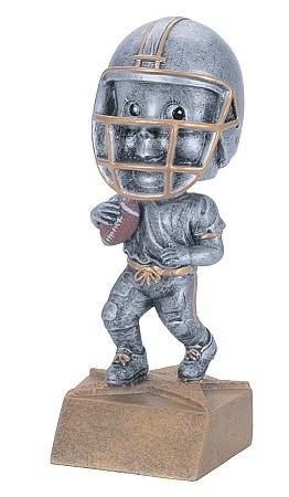 Football Pewter Bobblehead Trophy | Football Bobble Head Award | 6 Inch Tall