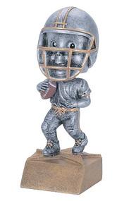 Football Pewter Bobblehead Trophy | Engraved Football Bobble Head Award - 6 Inch Tall