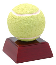 Tennis Color Resin Trophy | Engraved Color Tennis Award - 4 Inch Tall