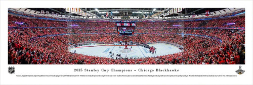 2015 Stanley Cup Championship Panorama Print - Unframed
