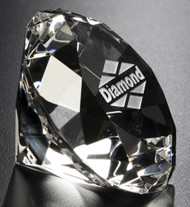 Crystal Diamond Paperweight - Corporate Award 5 Piece Minimum Purchase