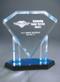 Floating Diamond Acrylic Award - Large / Blue