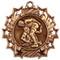 Wrestling Ten Star Medal - Gold, Silver or Bronze | Wrestler 10 Star Medallion | 2.25 Inch Wide Wrestling Ten Star Medal - Bronze