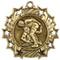 Wrestling Ten Star Medal - Gold, Silver or Bronze | Wrestler 10 Star Medallion | 2.25 Inch Wide Wrestling Ten Star Medal - Gold