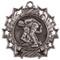 Wrestling Ten Star Medal - Gold, Silver or Bronze | Wrestler 10 Star Medallion | 2.25 Inch Wide Wrestling Ten Star Medal - Silver