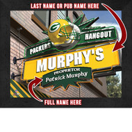 Green Bay Packers Hangout Print - Personalized
