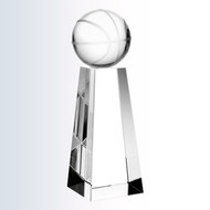 Crystal Basketball Tower Trophy
