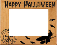 "Halloween ""Witch"" Picture Frame"