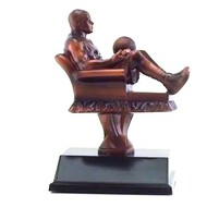 Basketball Fantasy League Armchair Trophy | Fantasy Hoops League Award | 6.5 Inch Tall