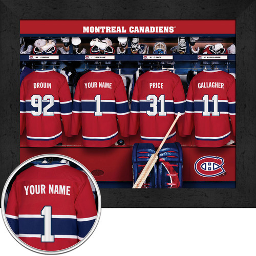 online store e0d46 664cf Montreal Canadiens Locker Room Print - Personalized