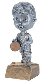 Pewter Basketball Bobblehead Trophy - Female