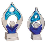 "Art Glass Trophy - Winner | Artistic Corporate Award - 8.5"" & 10.25"""