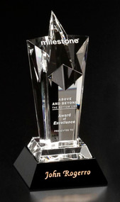 Acclaim Star Crystal Corporate Award - Small 8""